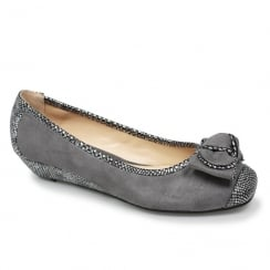 Lunar Missy II Womens Grey Low Wedge Pump