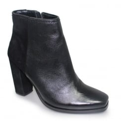 Lunar Zoella Black Leather Ankle Boots