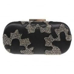 Lunar Womens Rebecca Black Clutch Bag