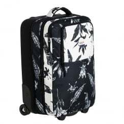 Roxy Roll Up Black/Cream 35L Wheelie Cabin Bag