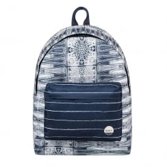 Roxy Be Young Navy/Cream 24L Medium Backpack 03538