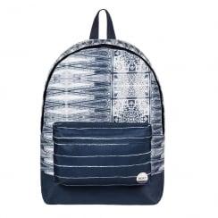 Roxy Sugar Baby Navy/Cream 16L Medium Backpack 03543