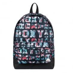Roxy Sugar Baby Black/Multi 16L Medium Backpack 03543