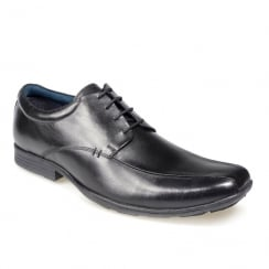 Pod Wessex Black Boys Lace Up School Shoes