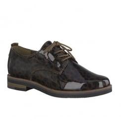 Marco Tozzi Mocca Str.P.C. Womens Lace Up Shoes 23203