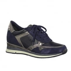 Marco Tozzi Navy Womens Lace Up Shoes 23710