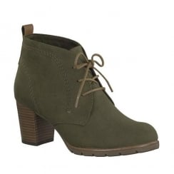 Marco Tozzi Olive Ankle Heeled Boots 25107