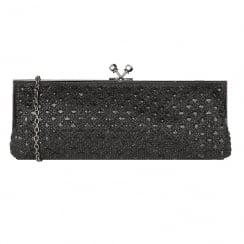 Lotus Zilar Diamante Front Clutch Bag - Black - 1707