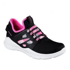 Skechers Girls Black Street Squad Sneakers