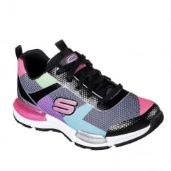 Skechers Kids Black/Multi Jumptech Sneakers