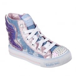 Skechers Girls Twinkle Toes Shuffles Wonder Wings Sneakers