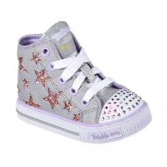 Skechers Girls Twinkle Toes Shuffles Lil Rockin Star Sneakers