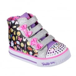 Skechers Girls Twinkle Toes Shuffles Baby Talk Sneakers