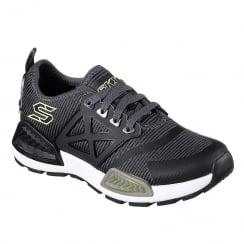 Skechers Boys Black/Olive Sneakers 97671L