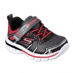 Skechers Toddler Nitrate Ion Blast Red/Black Sneakers