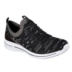 Skechers Womens Burst 2.0 Grand Fortune Black Sneakers