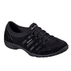 Skechers Womens Empress Splendid Black Sneakers