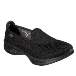 Skechers GO Walk 4 Kindle Black Sneakers