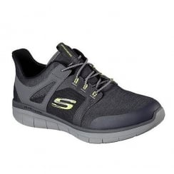 Skechers Synergy Mens Grey Lace Up Sneakers