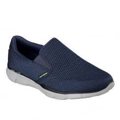 Skechers Mens Equalizer Double Play Navy Sneakers