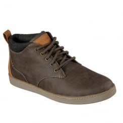 Skechers Mens Helmer Brown Ankle Boots