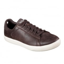 Skechers Mens GOvulc 2 Grandeur Brown Leather Sneakers