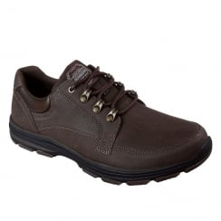 Skechers Mens Garton Briar Brown Leather Casual Shoes