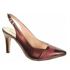 Capollini Roxanne Bordo Slingback Pointed Heels - Z124