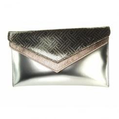 Capollini Roxanne Pewter Occasion Clutch Handbag - Z123