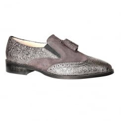 Nicola Sexton Pewter Flat Loafers