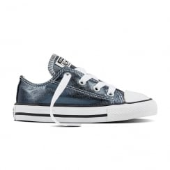 Converse Infant/Toddler Seasonal Ox Metallic Blue Sneakers
