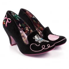 Irregular Choice Fuzzy Peg Black