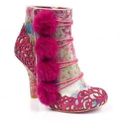 Irregular Choice Slumber Party Pink Heeled Ankle Boots - 3081-51
