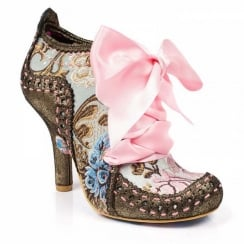 Irregular Choice Abigails 3rd Party Gold Heeled Ankle Boots - 3081-06