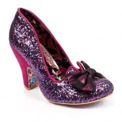 Irregular Choice Nick of Time Pink Glitter Court Heels