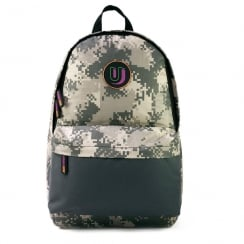 Urban Junk Essentials Grey Schoolbag Backpack - Pixel