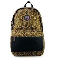 Urban Junk Yellow/Black Schoolbag Backpack - Dino