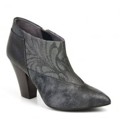 Ruby Shoo Erika Heeled Boots - Pewter