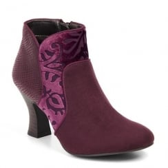 Ruby Shoo Kennedy Heeled Boots - Burgundy