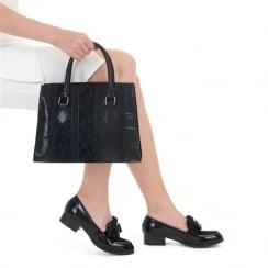 Ruby Shoo Gabriella Flat Loafer Shoe - Black