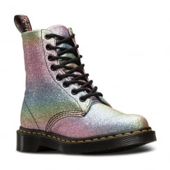 Dr Martens Womens Pascal Multi Glitter Rainbow Ankle Boots