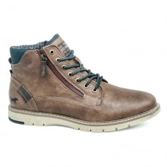 Mustang Mens Chestnut Lace Up Ankle Boots