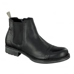 Mustang Mens Black Chelsea Boots