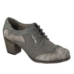 Mustang Womens Grey / Brown Lace Up Shoes