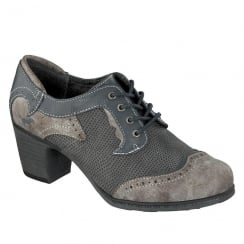 Mustang Womens Navy/Grey Lace Up Shoes