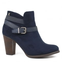 Refresh Navy Heeled Ankle Boot