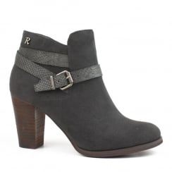 Refresh Grey Heeled Ankle Boot