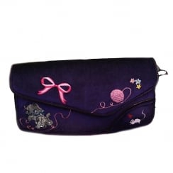 Irregular Choice Kitty Love Purple Clutch
