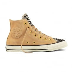 Converse Womens Pony Hair Hi Light Fawn Sneakers
