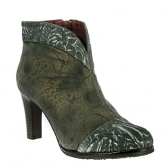 Laura Vita Womens Albane Grey Heeled Ankle Boots
